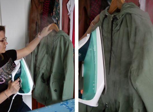 odświeżanie ubrań parą żelazko